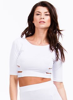 Making The Bands Cut-Out Cropped Top