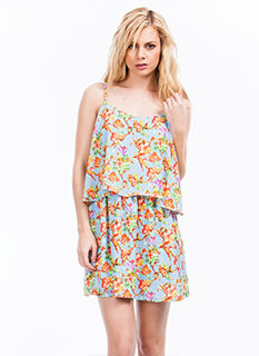 Tropical Tiered Cami Dress
