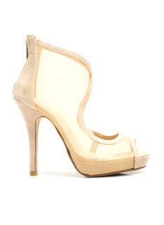 Throw A Curve Mesh Cut-Out Heels
