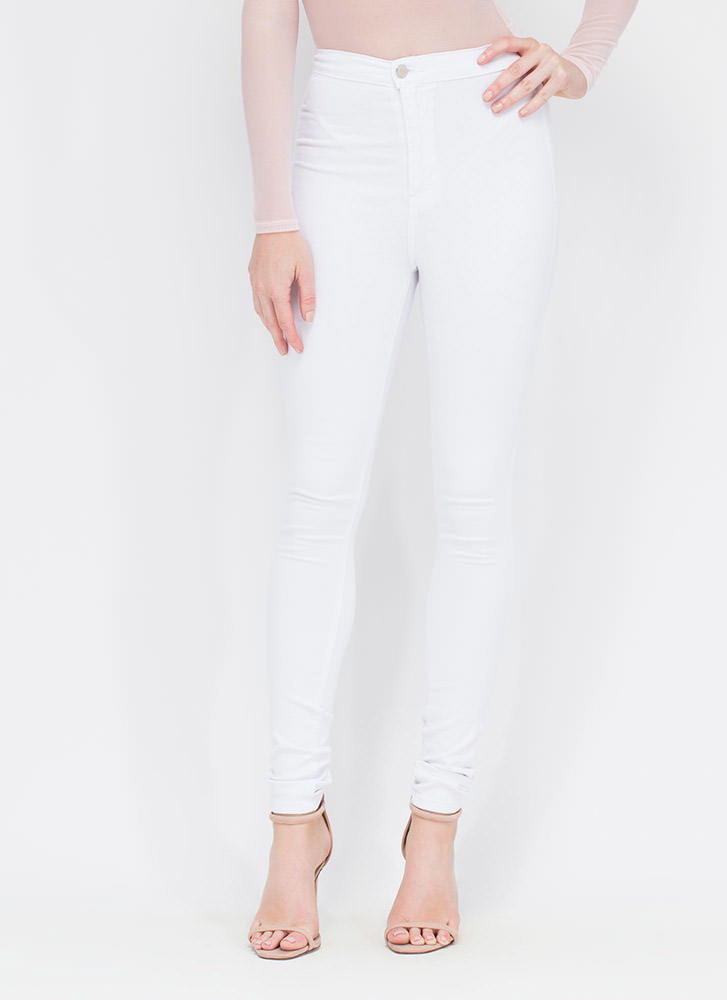 So Solid High-Waisted Skinny Jeans