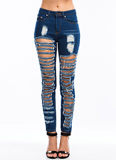 Slashed 'N Destroyed Relaxed Jeans