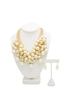 Layered Pearl Dream Necklace Set