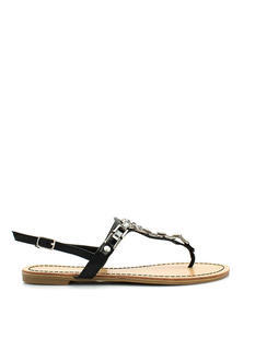 Art Deco Faux Jewel Sandals