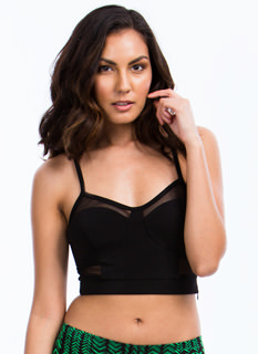Mesh Bustier Cropped Tank