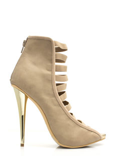 Strap To It Faux Leather Heels
