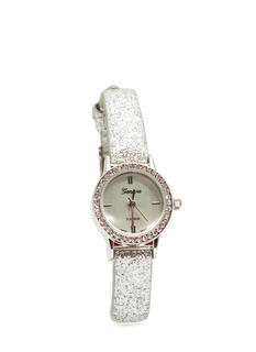 Glittery Skinny Band Mini Face Watch