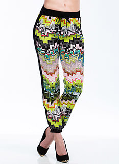 Zigzag Route Abstract Chevron Joggers