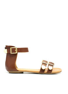 Bare Buckle Brawling Sandals
