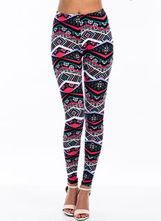 Shape Up Geometric Print Leggings