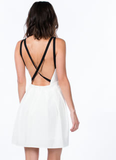 Pleat The Fifth Strappy Skater Dress