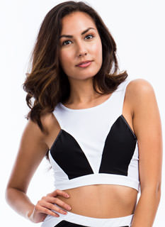 Road Colorblock Cropped Tank
