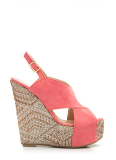 Crisscross My Heart Woven Wedges