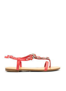 Bejeweled Strappy Sandals