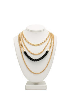 Quad Chain Layered Necklace