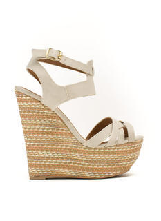Basket Case Strappy Woven Wedges