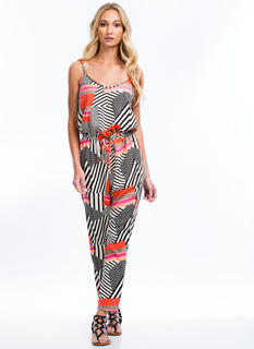 Abstract Multi-Print Jumpsuit