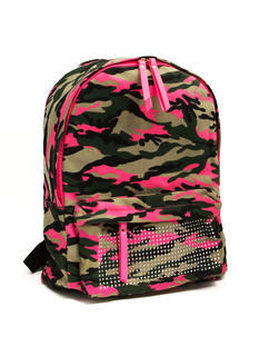 Embellished Camo Print Backpack