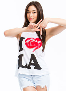 I Heart LA Palm Trees Muscle Tank