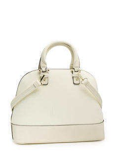 All Curves Faux Leather Satchel