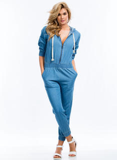Good In The Hood Chambray Jumpsuit