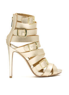 Quad Buckle Strappy Heels