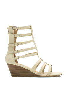 Ladderally Faux Leather Wedges