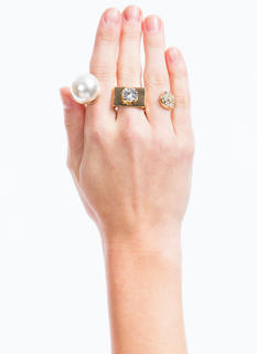Bejeweled Triple Knuckle Ring