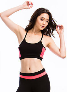 Sweat It Out Neon Mesh Sports Bra