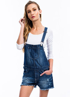 Get Destructive Denim Shortalls