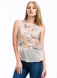 Rose Garden Organza Top