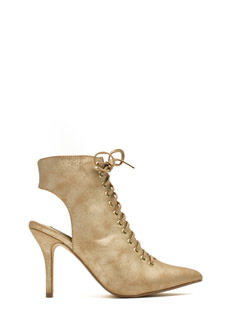 Well Heeled Lace-Up Booties