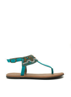 Bead Me To It T-Strap Sandals