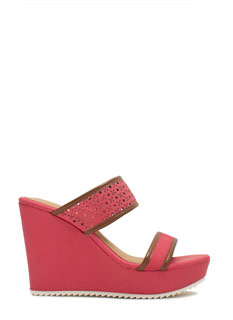 Perfectly Perforated Strappy Wedges