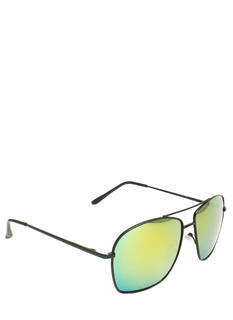 Reflective Square Aviator Sunglasses