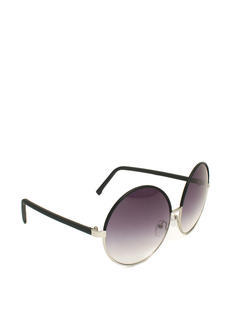 Oversized Two-Tone Circle Sunglasses