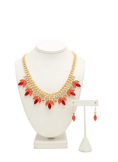 Faux Jewels 'N Rhinestones Necklace Set
