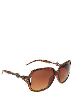 Oval Link Oversized Sunglasses