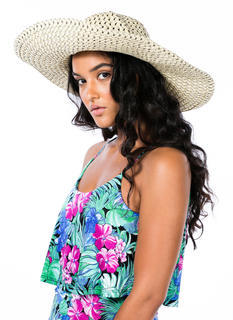 Perforated Floppy Brim Sunhat