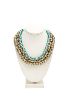 Sparkly Woven Chain Necklace