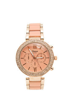 Colorblock Rhinestone Boyfriend Watch