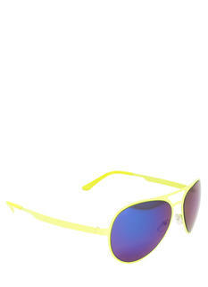 Neon Reflective Aviator Sunglasses