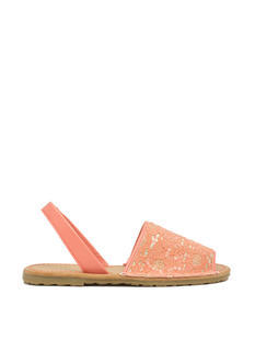 Faux Leather 'N Sparkle Slingback Sandals
