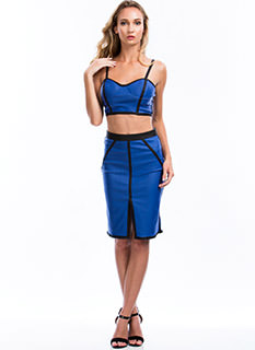 Best Revenge Piped Pencil Skirt
