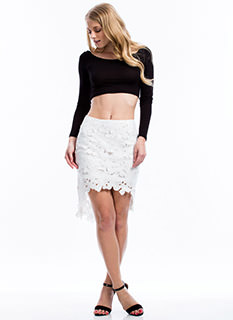 Crochet Wonder High-Low Skirt