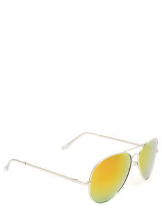 Metallic Reflective Aviator Sunglasses