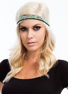 Metallic Tribal Beaded Headband