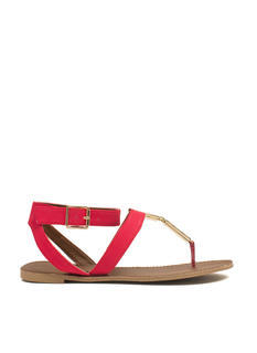 Double Plate Strappy Sandals