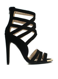 Latticed Framework Cut-Out Heels