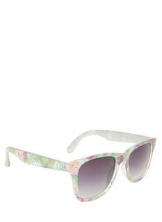 Square Floral Sunglasses