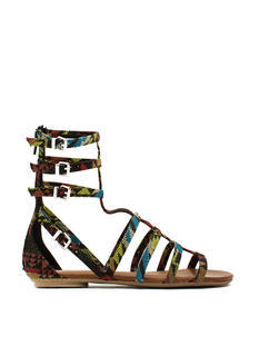 Tribal Print Gladiator Sandals